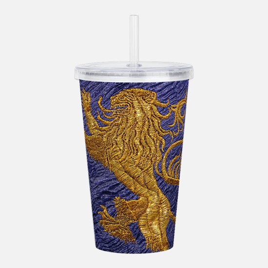 Rampant Lion - gold on Acrylic Double-wall Tumbler