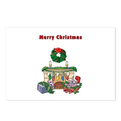 Xmas Fireplace Postcards (Package of 8)