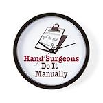 Funny Doctor Hand Surgeon Wall Clock