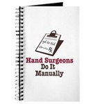 Funny Doctor Hand Surgeon Journal
