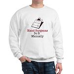 Funny Doctor Hand Surgeon Sweatshirt
