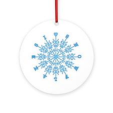 I Love Snowflakes Ornament (Round)