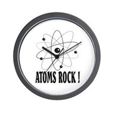 Atoms Rock ! (black) Wall Clock