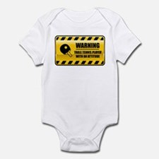 Warning Table Tennis Player Infant Bodysuit