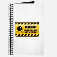 Warning Table Tennis Player Journal