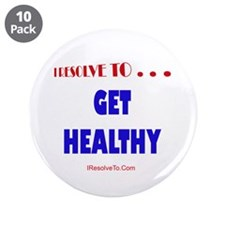 """Unique January holidays 3.5"""" Button (10 pack)"""