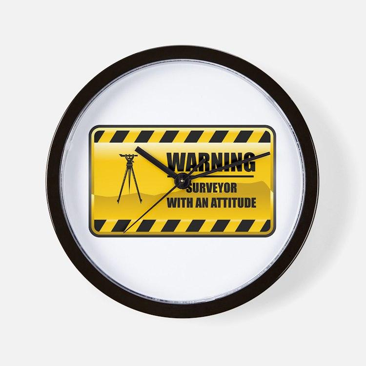 Warning Surveyor Wall Clock