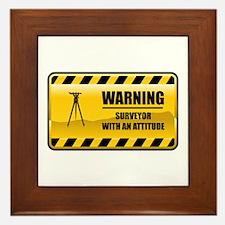 Warning Surveyor Framed Tile