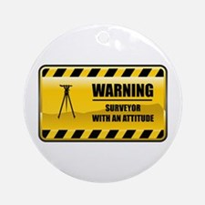 Warning Surveyor Ornament (Round)