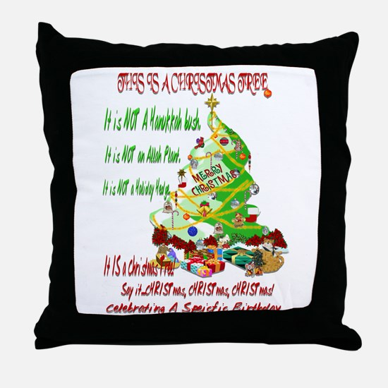 This Is A Christmas Tree Throw Pillow
