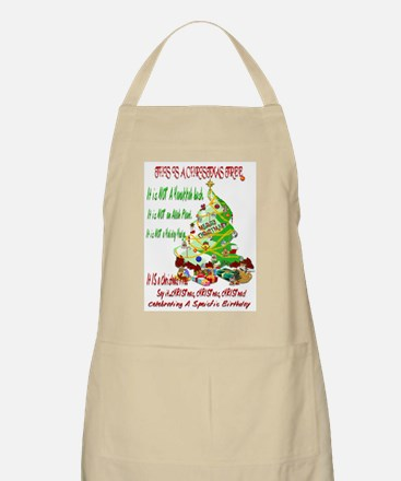 This Is A Christmas Tree BBQ Apron