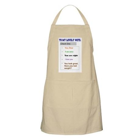Marriage Humor BBQ Apron