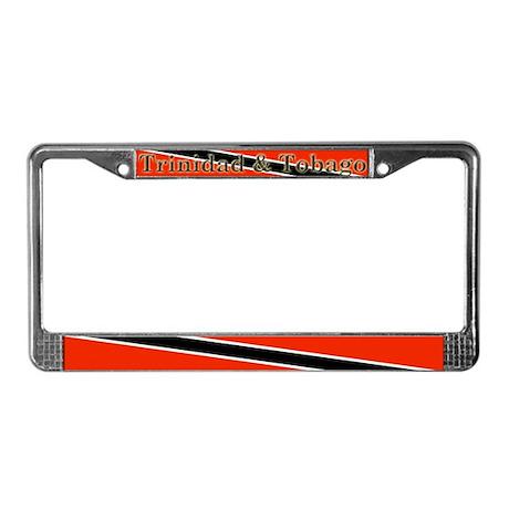 Trinidad Tobago Blank Flag License Plate Frame