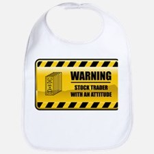 Warning Stock Trader Bib