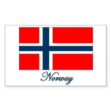 Norway Flag Rectangle Decal