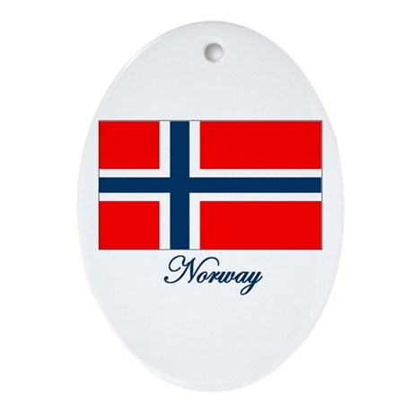 Norway Flag Oval Ornament