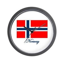Norway Flag Wall Clock