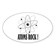 Atoms (black) Oval Decal