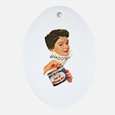 Can Of Whoop Ass Oval Ornament