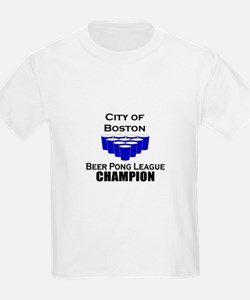 City of Boston Beer Pong Leag T-Shirt