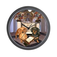 Jewish Dachshunds Wall Clock