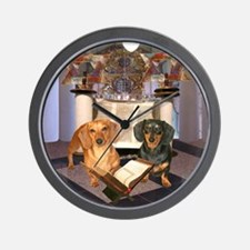 Jewish Dachshunds Wall Clock