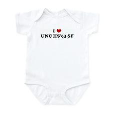 I Love UNC HS'63 SF Infant Bodysuit