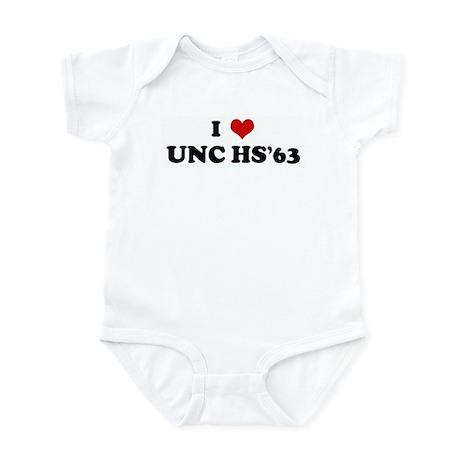 I Love UNC HS'63 Infant Bodysuit