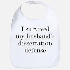 My Husband's Dissertation Defense Bib