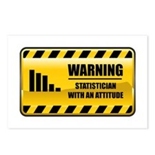 Warning Statistician Postcards (Package of 8)
