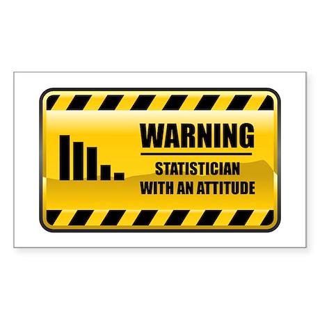 Warning Statistician Rectangle Sticker