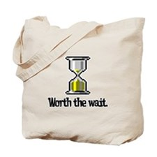 Worth the Wait (Computer Hourglass Icon) Tote Bag