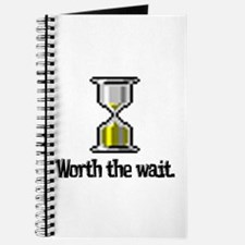 Worth the Wait (Computer Hourglass Icon) Journal