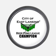 City of East Lansing Beer Pon Wall Clock