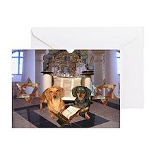 Jewish Dachshunds Greeting Card