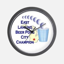 East Lansing Beer Pong City C Wall Clock