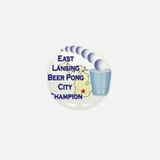 East Lansing Beer Pong City C Mini Button
