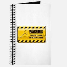 Warning Squash Player Journal