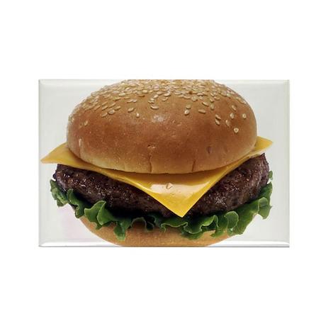 Cheeseburger Love Rectangle Magnet (10 pack)