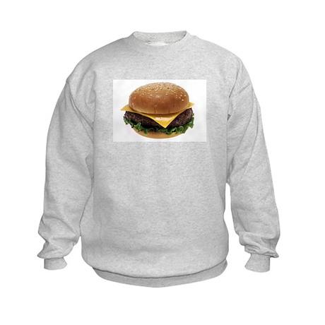 Cheeseburger Love Kids Sweatshirt