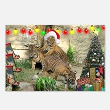 Helaine's Tiger Cubs' Xmas Postcards (Package of 8