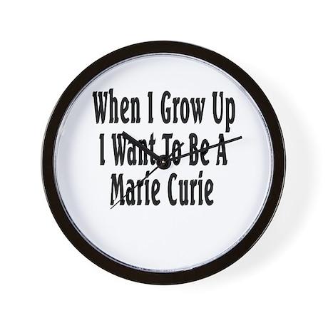 Marie Curie (black) Wall Clock