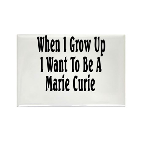 Marie Curie (black) Rectangle Magnet