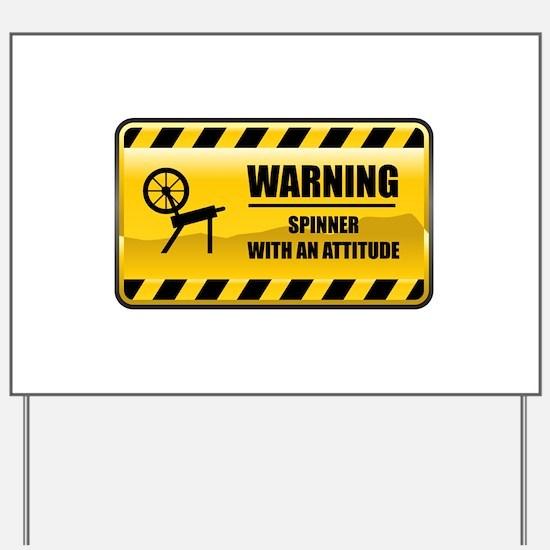 Warning Spinner Yard Sign