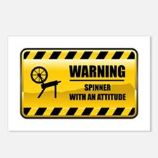 Warning Spinner Postcards (Package of 8)