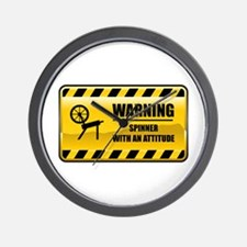 Warning Spinner Wall Clock
