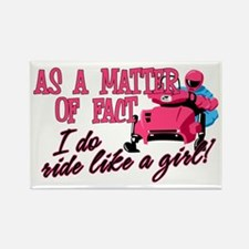 Ride Like a Girl Rectangle Magnet