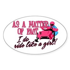 Ride Like a Girl Oval Decal