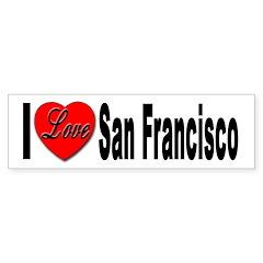 I Love San Francisco Bumper Bumper Sticker