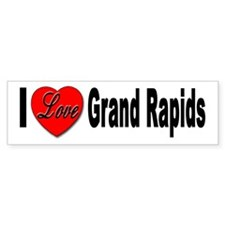I Love Grand Rapids Bumper Bumper Sticker